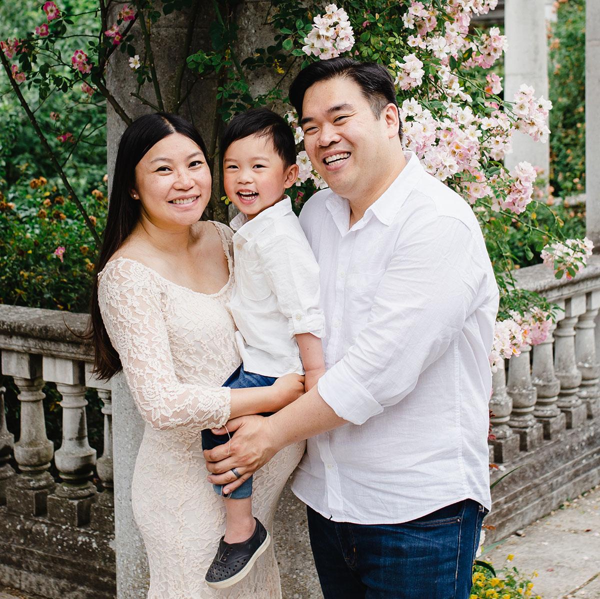Family portrait happy kid
